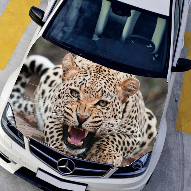 Hd 3d car stickers animal hood sticker exterior accessories leopard decals voiture stickers design sticker on