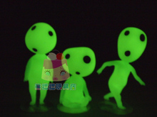 3pcs/set limited Princess Mononoke Kodama Tree Spirit Toy Free Shipping