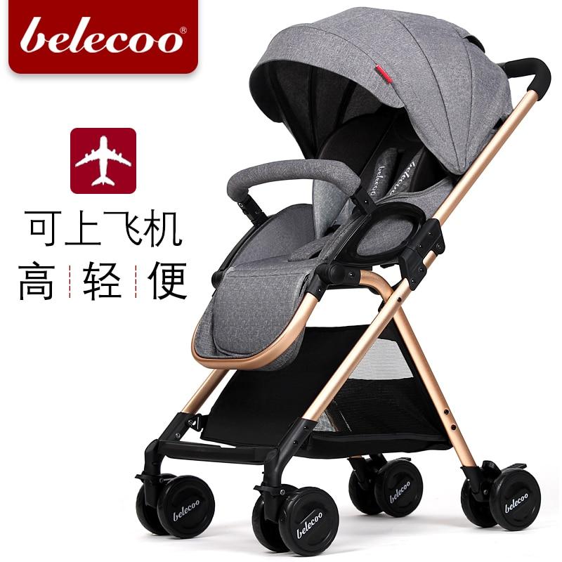 Belecoo bella baby stroller light shock car umbrella bb folding trolley baby stroller ultra light portable shock absorbers bb child summer baby hadnd car umbrella