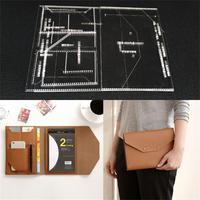 Handmamde Man Briefcase Acrylic Template Leather Pattern DIY Hobby Leathercraft Sewing pattern stencils 23x17x1cm