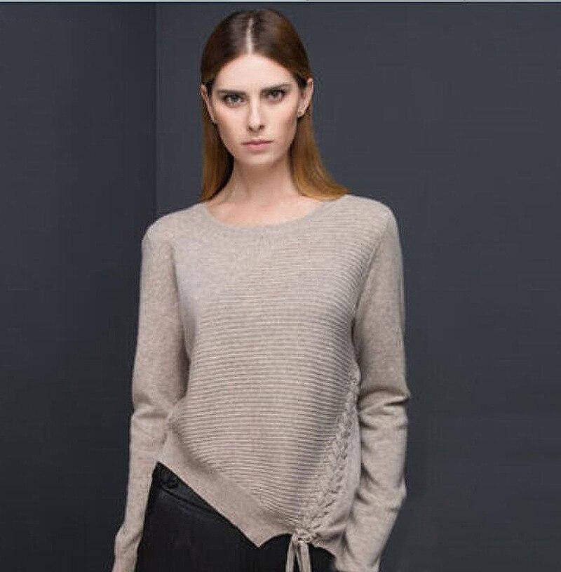 100 кашемировый свитер женский, светло коричневый, модный, теплый, мягкий, однотонный, из натуральной ткани, высокое качество, бесплатная дост