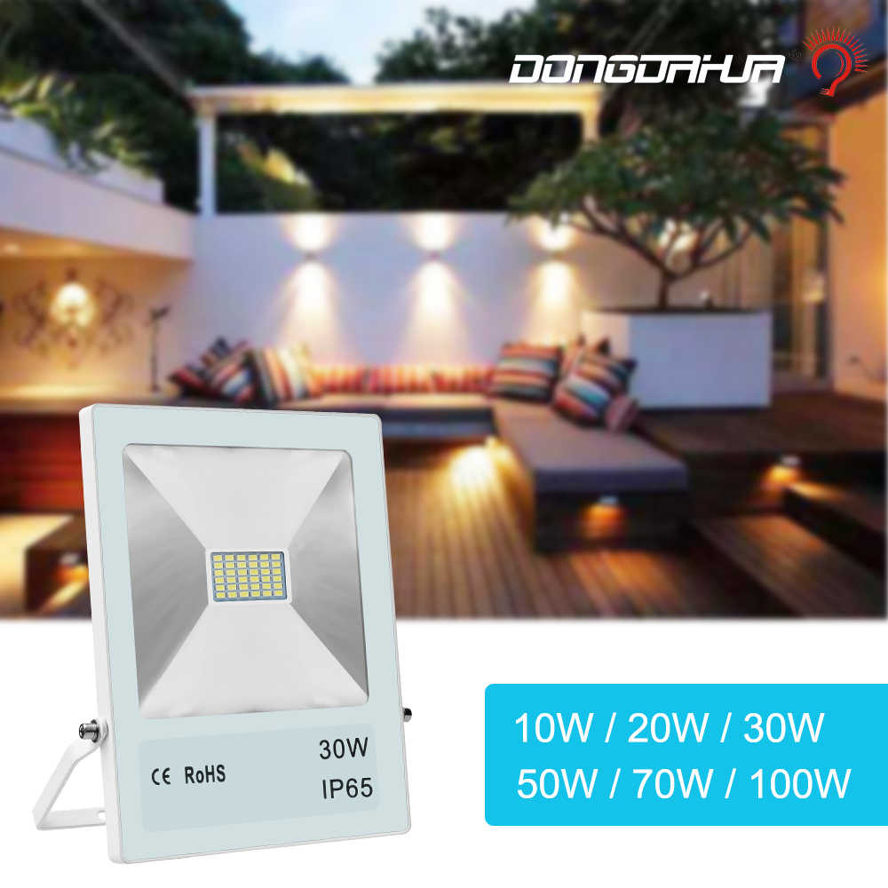 floodlight 2019 new style10W 20W 30W 50W 70W 100W waterproof lamp outdoor wall light street lamp Security level ip65 High light