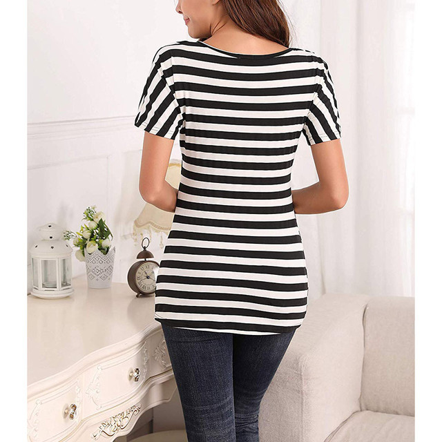 vetement femme 2019 Women Pregnant Maternity tops clothes Nursing Stripe Breastfeeding Top T-Shirt Blouse ropa de mujer clothes