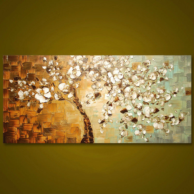 Frameless Panel Hand Painted Thick Palette Knife Painting Wall Art ...
