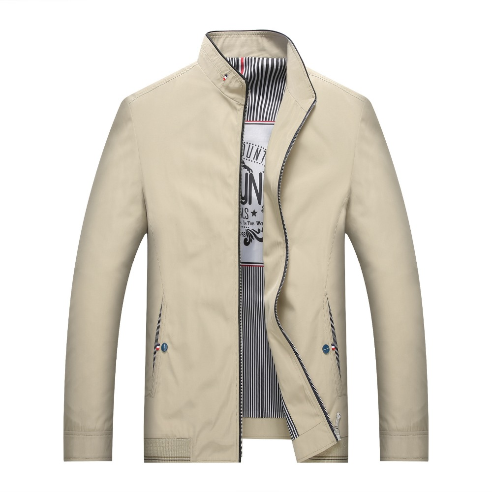 Mens khaki jacket casual - New 2017 Casual Mens Jacket Spring Autumn Men S Zipper Jackets Coats Middle Aged Comfortable