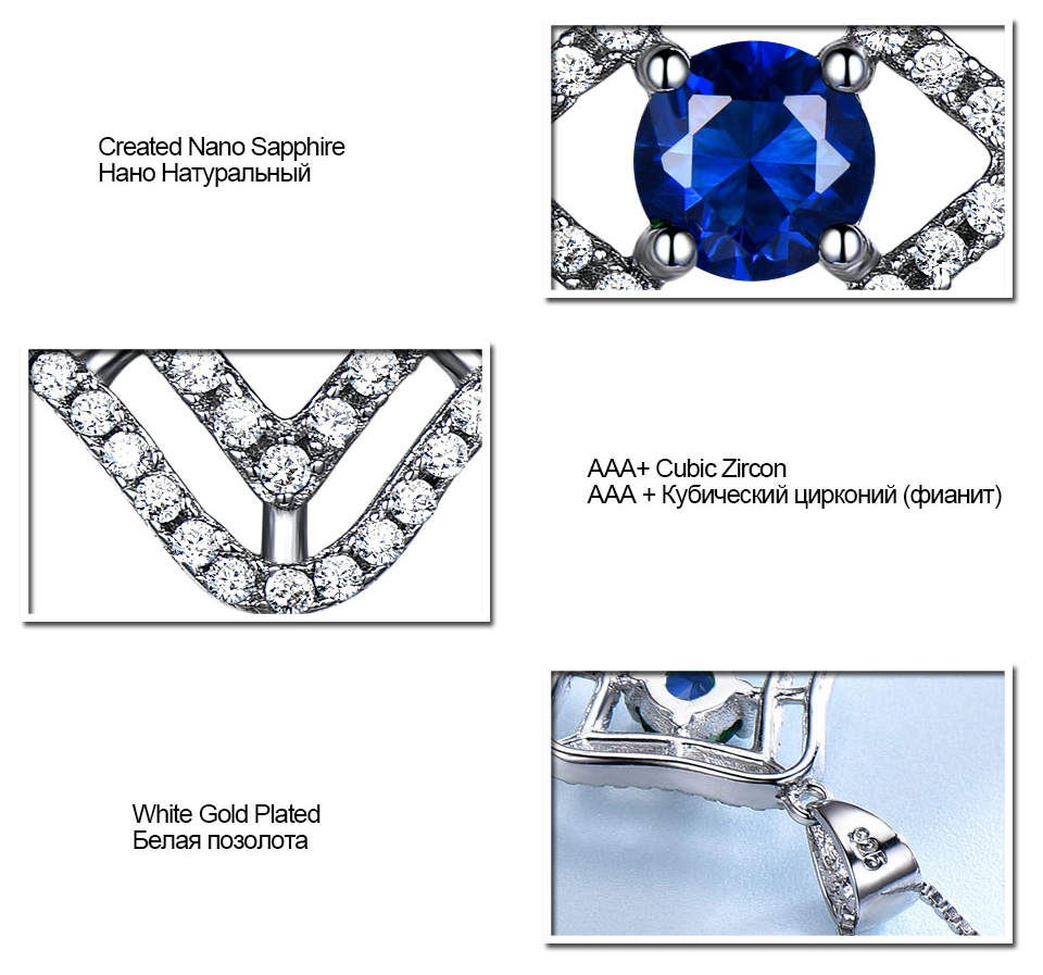 Honyy Sapphire 925 sterling silver jewelry set for women S023S-1 (9)