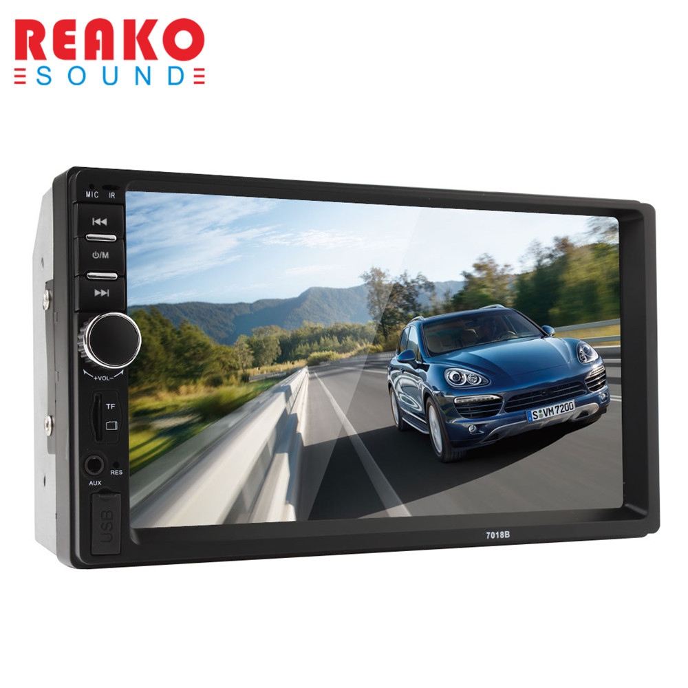 REAKOSOUND Car Monitor Car Video Players Car 2DIN 7 Inch Bluetooth Audio In Dash Touch Screen Car Stereo MP3 MP5 Player USB эллипсоид sport elit se 703 магнитный