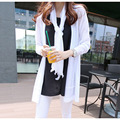 2016 new  long sections solid ice linen cardigan sweater female autumn thin long sleeves ladies sweater coat free shipping