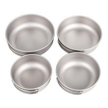 купить Keith  Folding Titanium Bowl  Healthy Camping Pot  Frying Pan Outdoor Tableware Ti5323-Ti5326 недорого