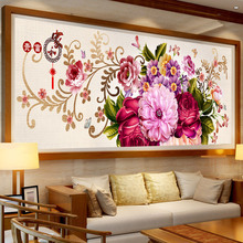 Large size picture Beautiful peony diamond Embroidery diy painting mosaic 3d cross stitch pictures H422
