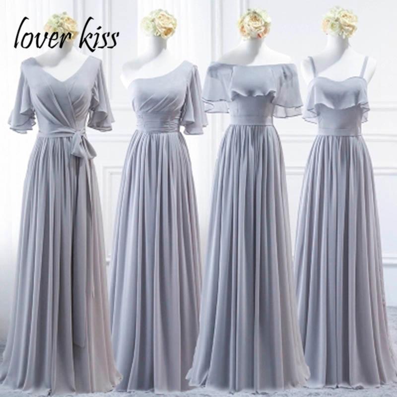 lover kiss vestido madrinha Elegant Chiffon Long Bridesmaid Dresses Plus Maid Of Honor Dresses For Weddings gala jurken dames