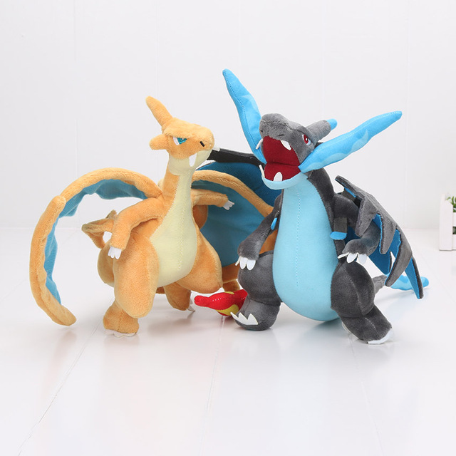 Us 6 99 10 25cm Xy Charizard Plush Toy Blue Dragon Yellow Dragon Mega Plush Doll Toys Stuffed Animals Kids Gift In Movies Tv From Toys Hobbies