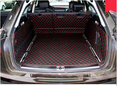 High quality mats Full set car trunk mats for Audi A6 Allroad 2016 2012 waterproof boot