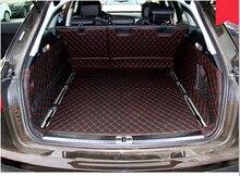 Chất Lượng Cao Thảm Full Bộ Cốp Xe Ô Tô Thảm Cho Xe Audi A6 ALLROAD 2016 2012 Chống Nước Khởi Động Thảm Caro Lót cho A6 2015 Tạo Kiểu