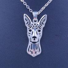 2018 Miniature Pinscher Dog Animal Pendant Necklace Gold Silver Plated Jewelry For Women Male Female Girls Ladies Punk Cute N178(China)