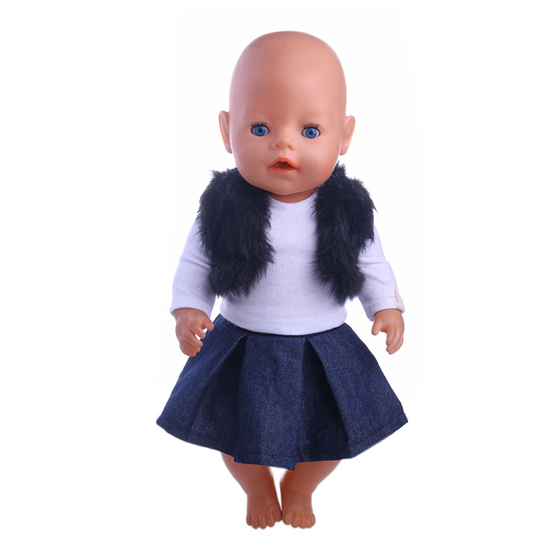 Plush vest set (package primer shirt + Bottom) for 43cm Baby Born zapf &18inch American girl doll