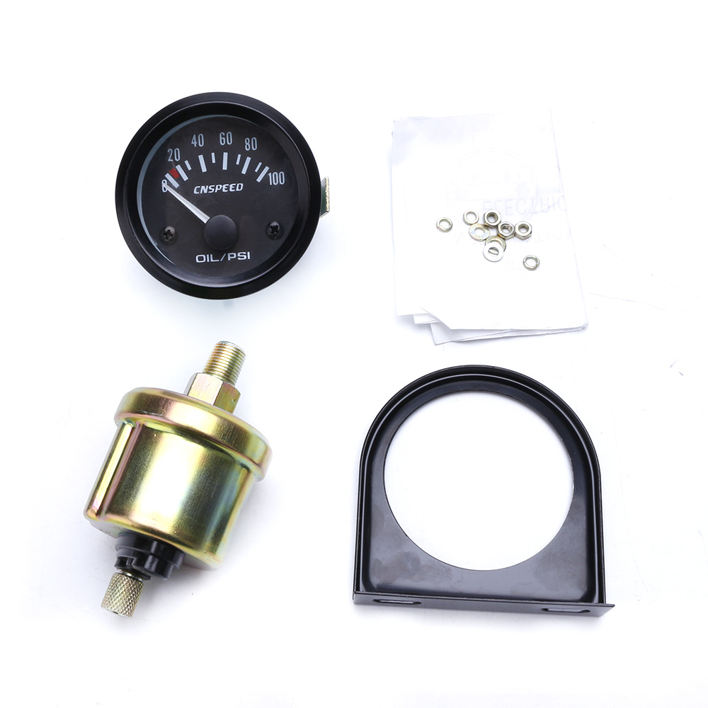 Cnspeed 2inch 52mm Gauge Oil Pressure 0 100 Psi 12v Electrical Dragon Wiring Diagram Car Sensor With Pod Ms101262 In Gauges From Automobiles