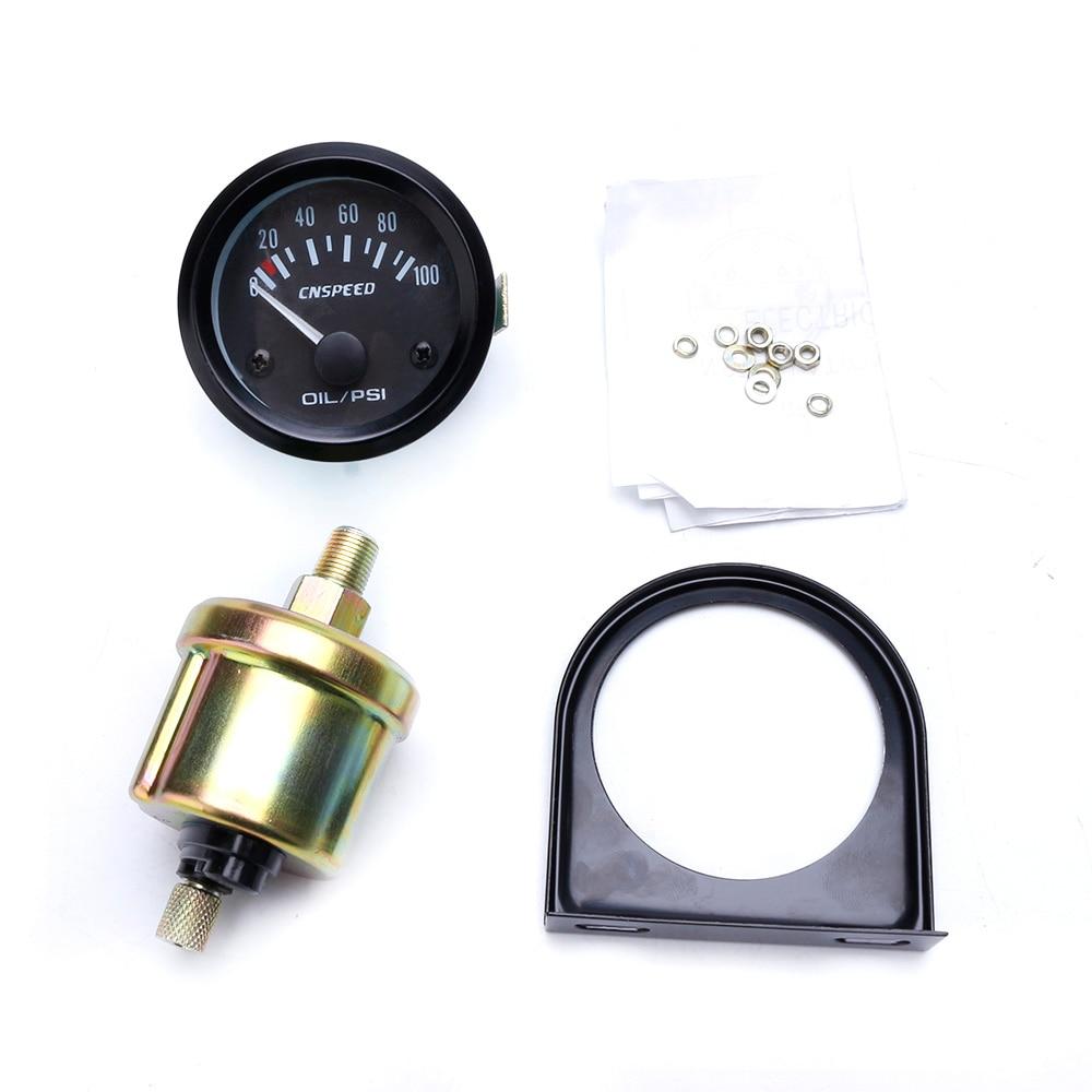 cnspeed 2inch 52mm gauge oil pressure gauge 0 100 psi 12v electrical car oil pressure sensor with gauge pod yc101262 in oil pressure gauges from automobiles  [ 1000 x 1000 Pixel ]