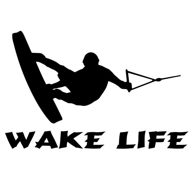 17 8cm 11 5cm Boat Sticker Ski Boat Wakeboarding Fishing