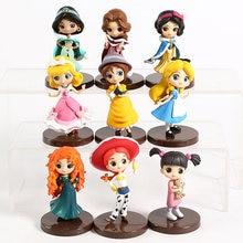 Q Posket personaggi principessa biancaneve Belle Jessie Boo turtle Alice cenerentola Jane PVC figure bambole giocattoli 3 pz/set