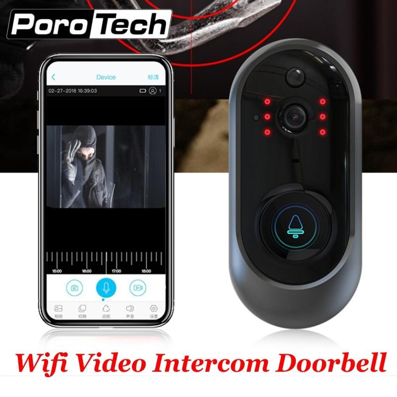 M108 sans fil WiFi vidéo sonnette caméra IP anneau porte cloche deux voies Audio APP contrôle iOS Android alimenté par batterie