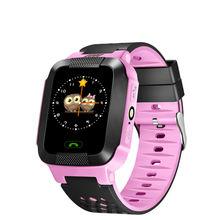 Niños de la manera regalos Y12 reloj niños kid smartwatch Inteligente táctil pantalla SOS GSM GPRS Localizador LIBRAS con linterna para Ios y