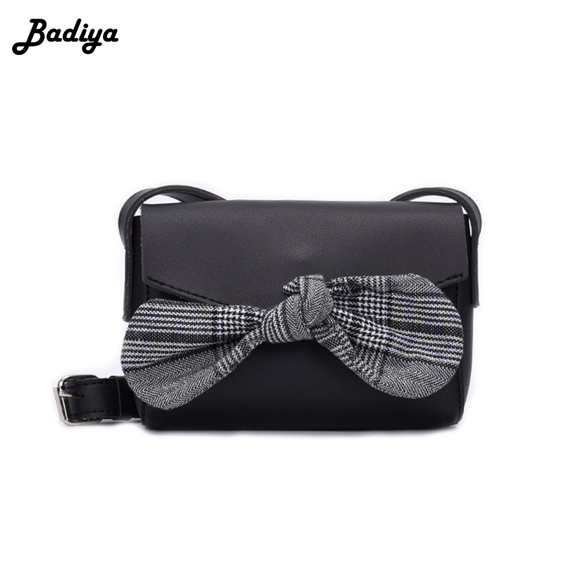 Fashion Bowknot Design Women pu Leather Crossbody Shoulder Bag Ladies Wide Strap Bags Female Bolsa Flap