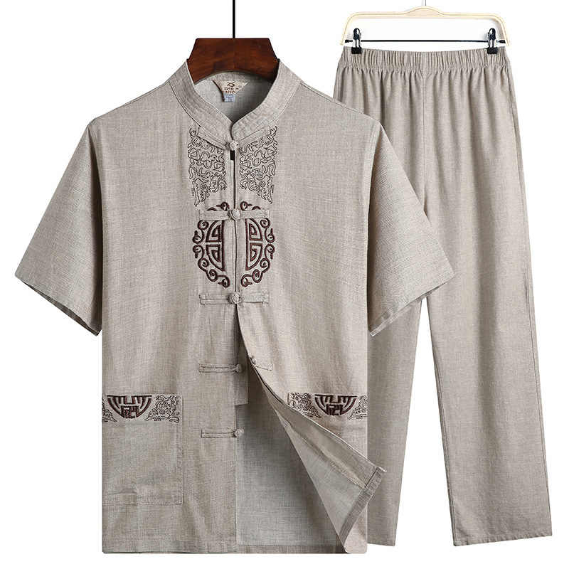 Sheng Coco Hanfu Linnen Shirts Mannen Wushu Traditionele Chinese Broek Qing-dynastie Kleding Voor Pantalon Wing Chun Roupa Oosterse