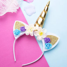 New 2019 Kids Flower hairbands Girls teens hair band headband one size for girl woman hair accessories AS0206(China)