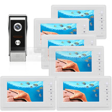 DIYSECUR 7 inch TFT Color LCD Display Video Door Phone Video Intercom Doorbell 700TVLine HD IR Night Vision Camera 1V6