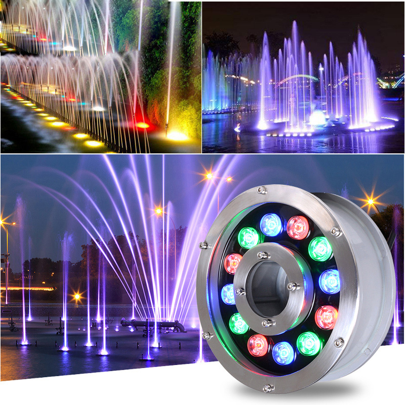 Led Underwater Lights Lovely Fanlive 5pcs/lot Underwater Lights For Fountains Ponds 6w 9w 12w 18w Ip68 Dmx512 Rgb Dc12v/24v Swimming Pool Light Fishing