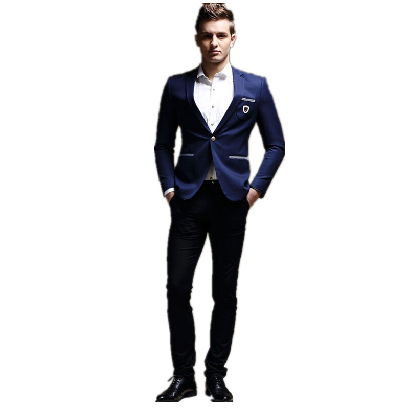 Aliexpress.com : Buy Fashion men's leisure suit young man suit one ...