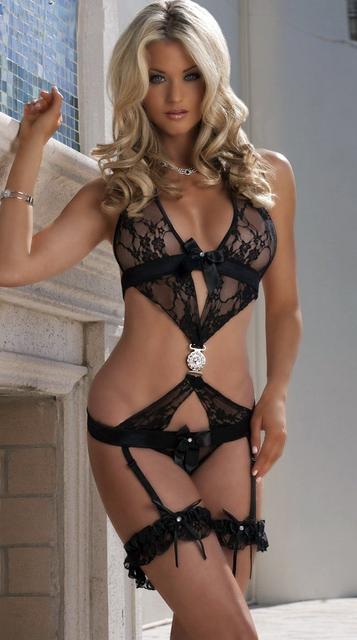 2016 ¡ nuevo!!! cubierta deslizante negro encaje Sexy ropa interior tentación sin respaldo de las mujeres de moda