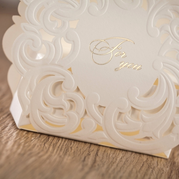 Aliexpress Wishmade Laser Cut White Wedding Invitation Candy Paper Box Favor Chocolate Gift Bo 50pcs Lot Ab7018 From