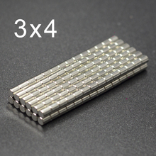500/1000Pcs 3x4 Neodymium Magnet 3mm x 4mm N35 NdFeB Small Round Super Powerful Strong Permanent Magnetic imanes Disc