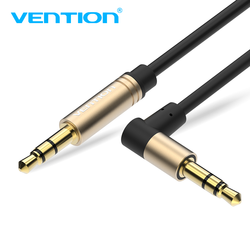 Vention Aux Cable 3.5mm jack Male to Male 90 Degree Right Angle Aux Audio Cable for iPhone Car Stereo Headphone Speaker Laptop vention male to male aux cable 3 5mm for car
