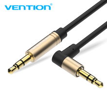 Vention Aux Cable 3.5mm jack Male to Male 90 Degree Right Angle Aux Audio Cable for iPhone Car Stereo Headphone Speaker Laptop