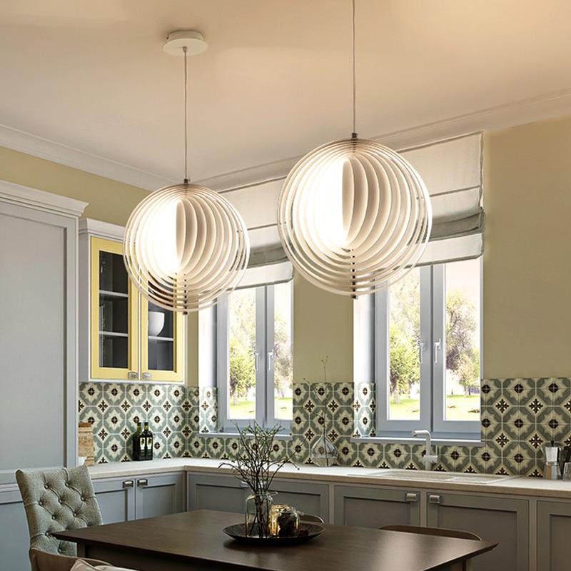 Us 165 88 21 Off Switzerland Verpan Aluminum Moon Pendants Lamp Led Best Quality Verner Panton Design In Pendant Lights From