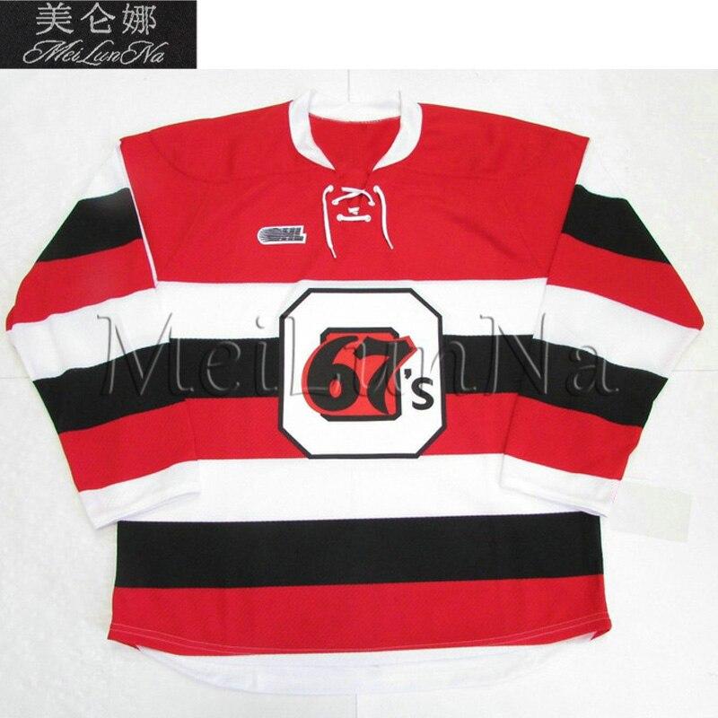 все цены на MeiLunNa Custom OHL Ottawa 67s Jerseys 17 Travis Konecny 89 Logan Couture 7 Denis Potvin Bobby Smith Sewn On Any Name NO. Size