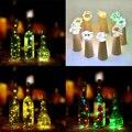 Luces de hadas 2 M Decoración de La Boda LED Lámpara Romántica Creativa Tapa de la Botella Tapón de Corcho Corcho Luces LED Lámparas de Luz bombillas