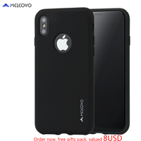 MELEOVO Brand Business Style Ultra Thin Liquid Silicone Back Cover For Iphone X Luxury Slim Case