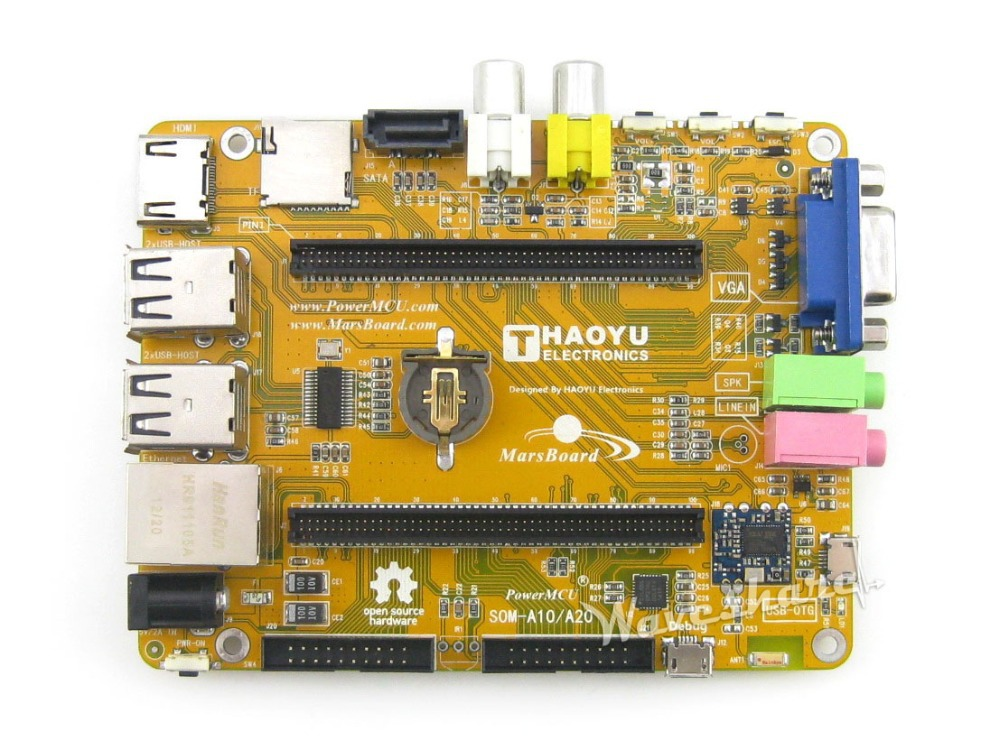 цена на MarsBoard A20 Flexible Designed development board powered by Allwinner A20 Dual core ARM Cortex A7 CPU Dual core Mali-400 GPU