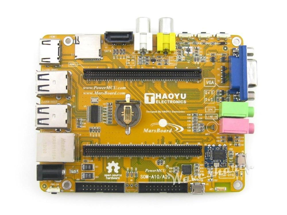 MarsBoard A20 Flexible Designed development board powered by Allwinner A20 Dual core ARM Cortex A7 CPU Dual core Mali-400 GPU cubieboard3 cubietruck dual core a20 development board w 2gb ddr3 memory hdmi vga