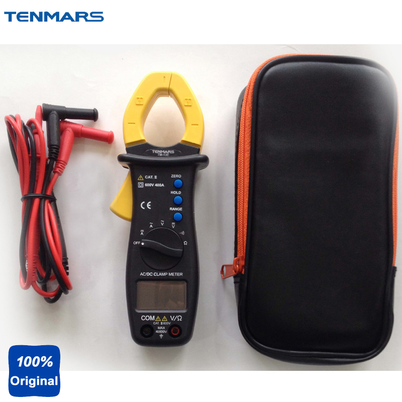 Portable AC/DC Clamp Meter ACV, ACA, DCV, DCA, Resistance, Continuity Tester TM-13E intelligent battery resistance tester 18650 battery resistance meter testing machine with clamp 220v