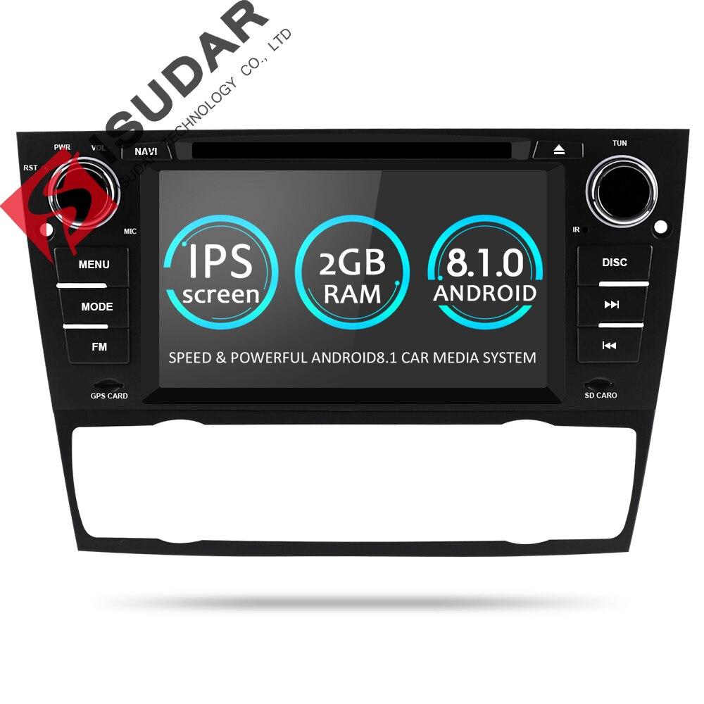 Isudar 1 Din Voiture Lecteur Multimédia GPS Android 8.1 Pour BMW/320/328/3 Série E90/ e91/E92/E93 DVD Lecteur Radio FM Quad Core 2 + 16 gb