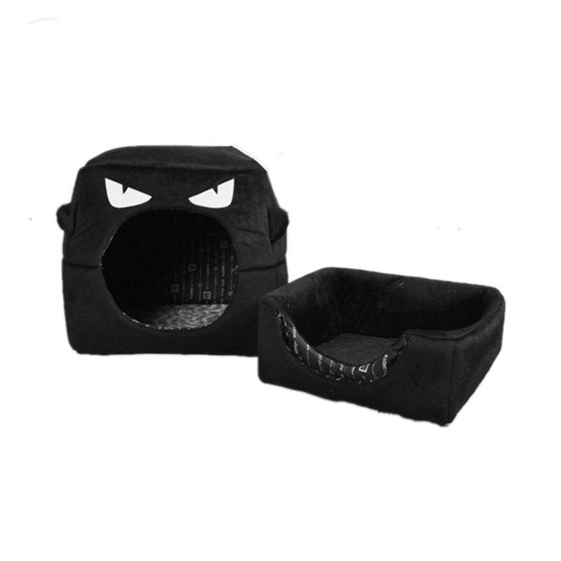 Gemotiveerd Zachte Hond Bed Warm Leuke Kat Slapen Huis Kleine Monster Vormige Bed Dierbenodigdheden Opvouwbare Cat Matten Puppy Kussen 170911-16 Bespaar 50-70%