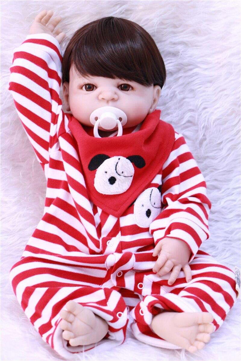 Garçon bebe-reborn complet silicone poupées reborn bébé 22 pouces enfant mode poupée reborn peut baigner doux BJD nouveau-né bébés vivants poupée