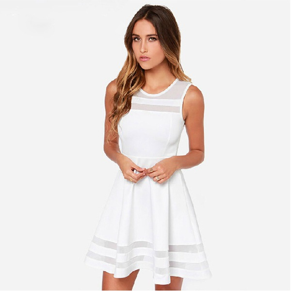 Fitted White Dress Promotion-Shop for Promotional Fitted White ...