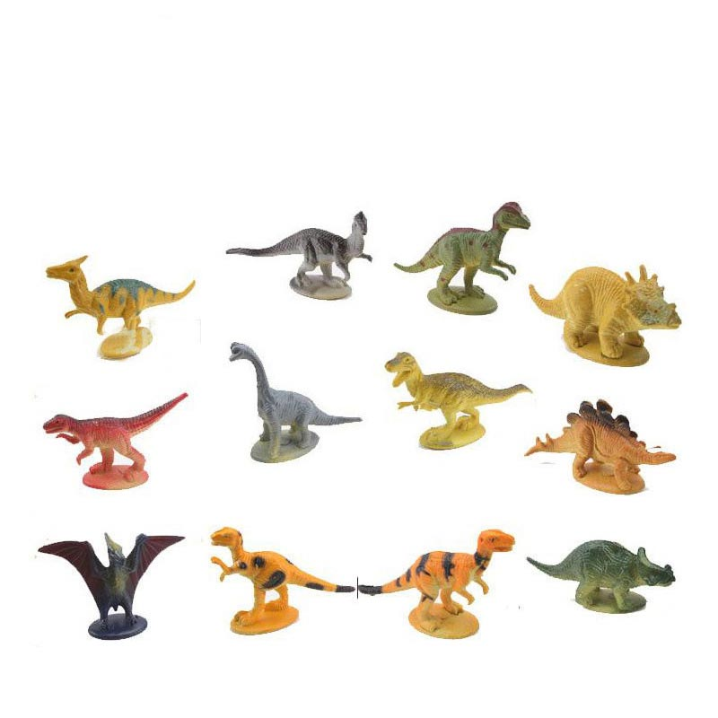 Static Plastic Animal Model Toys Pvc Figure Christmas Gift Holiday Gifts Buy One Give One 12pcs/set Children Identify Toys Dinosaur Simulation Action & Toy Figures
