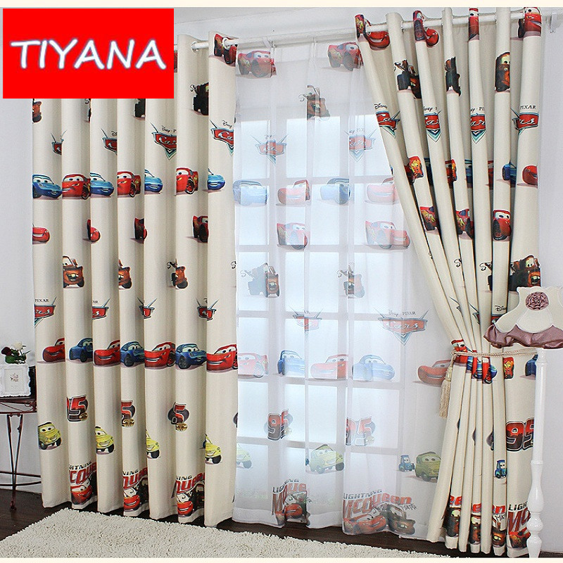 Nice Transparent Tulle Blackout Car Cartoon Boy Curtains For The Living Room  High Shading Drapes For Kids Boys Bedroom WP228u002620 In Curtains From Home U0026  Garden On ...